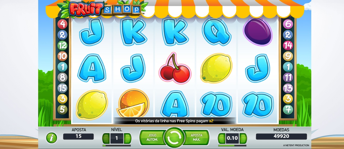 Fruit Shop slots clássica