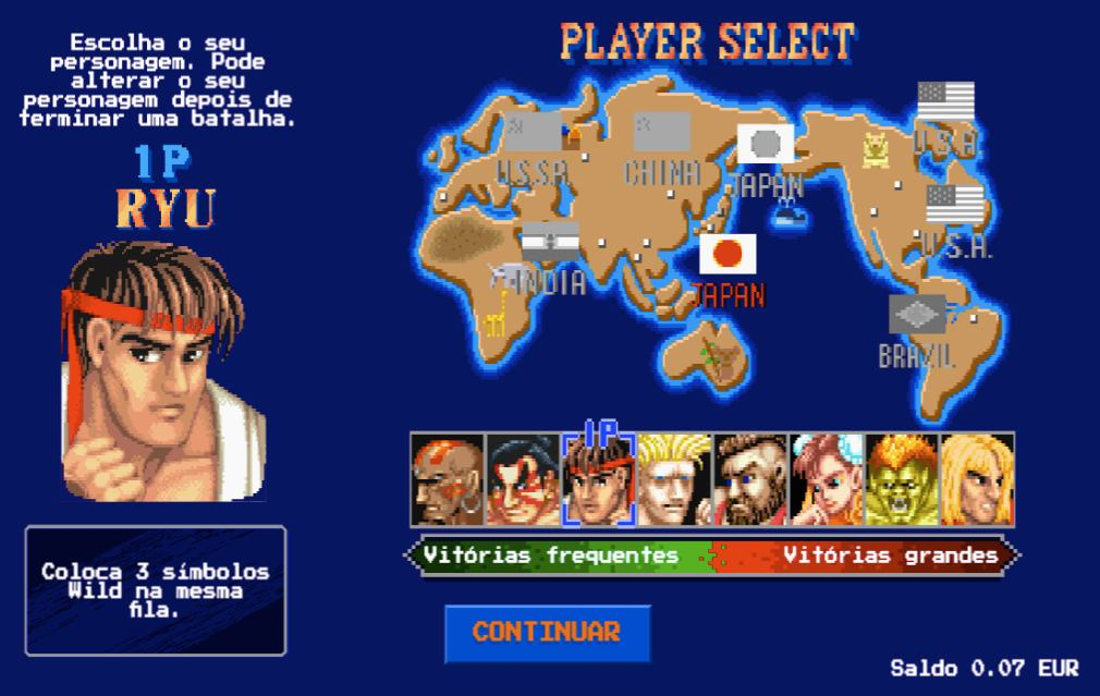 Street Fighter 2 Player Choice
